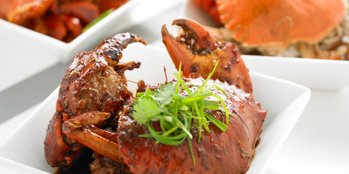 Black Pepper Crab from The Line in Shangri-La Hotel in Orchard, Singapore