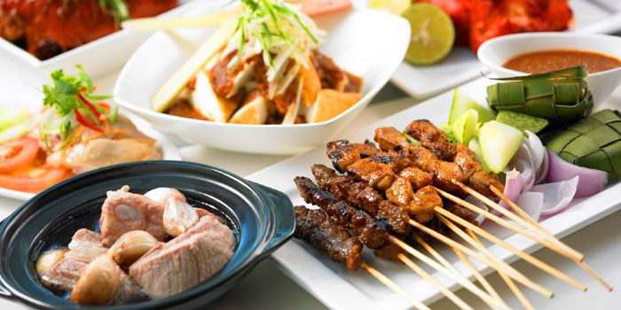 Satay from The Line in Shangri-La Hotel in Orchard, Singapore