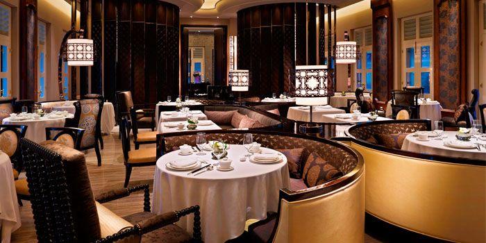 Interior of Cassia at Capella Hotel on Sentosa Island, Singapore