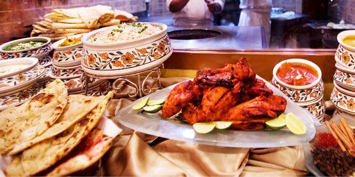 Food from Shahi Maharani Indian Restaurant in Raffles City Shopping Centre on North Bridge Road Singapore