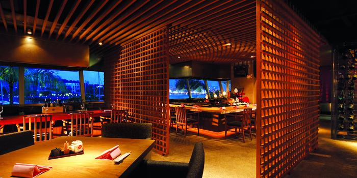 Interior of Takumi serving Japanese cuisine at Marina at Keppel Bay, Singapore