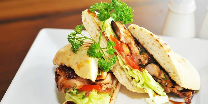Teriyaki Chicken Sandwich at Greenhouse Cafe in Design Hub at Tuas, Singapore