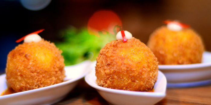 Deep Fried Risotto Balls from Noti Restaurant on Club Street, Singapore