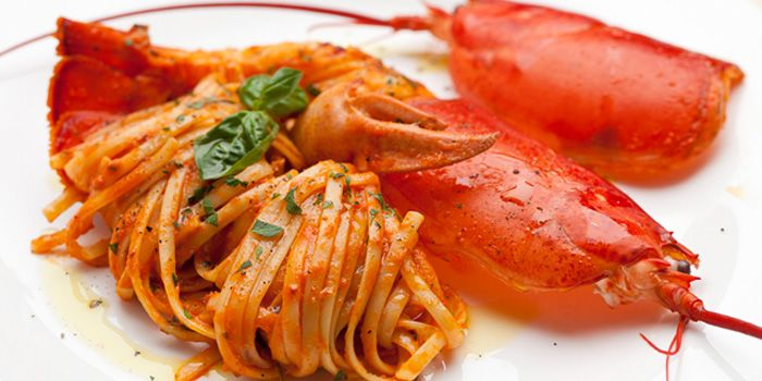 Image of the Lobster Linguine at Burlamacco Ristorante on Stanley Street in Telok Ayer, Singapore