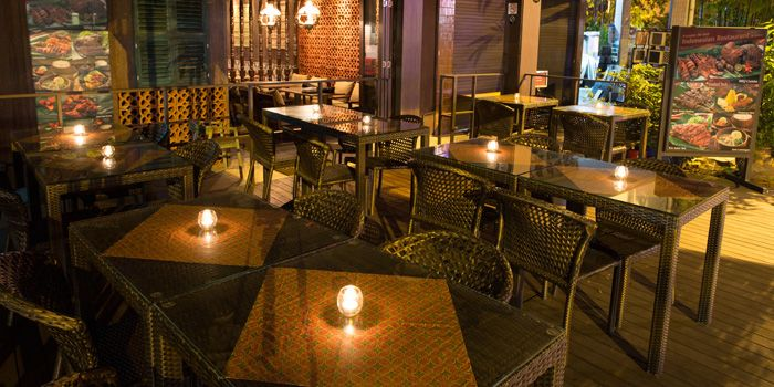 Outdoor Terrace of IndoChili on Zion Road