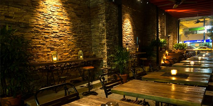 Outdoor Area of Bar-Roque Grill in Tanjong Pagar, Singapore