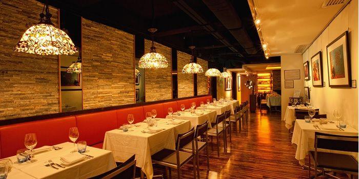 Doppio Zero Interior Dining Area Hong Kong Sheung Wan