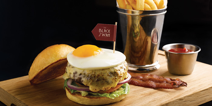 The Black Swan Burger from The Black Swan at Cecil Street, Raffles Place, Singapore