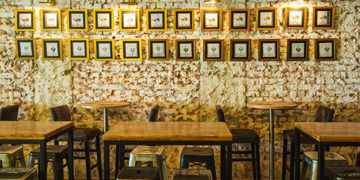 Interior of Coq & Balls at Tiong Bahru, Singapore