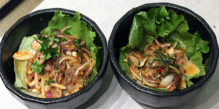 Cockle and Pork Salad of COCA Restaurant in Takashimaya on Orchard Road, Singapore