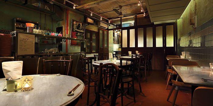 Coffeeshop Area in Bincho in Tiong Bahru, Singapore