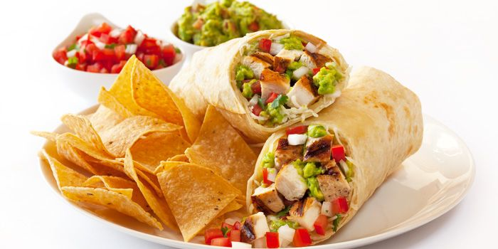 Burrito from Baja Fresh Mexican Grill (Rendezvous Gallery) in Dhoby Ghaut, Singapore