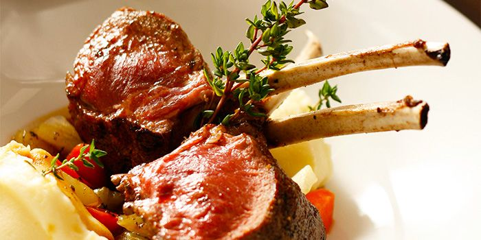 Seared Lamb Rack from La Nonna (Holland Village) in Holland Village, Singapore