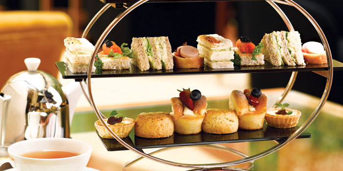 Afternoon Tea from The Courtyard at The Fullerton Hotel Singapore in Raffles Place, Singapore