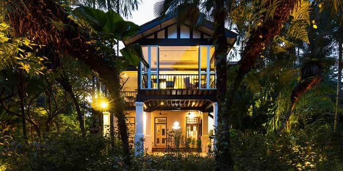 Exterior of Corner House in the Singapore Botanic Gardens, Singapore
