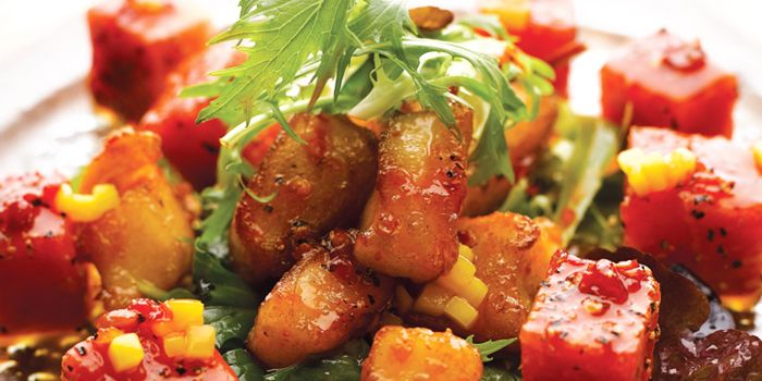 Fried Dice Chilean Sea Perch from JING at One Fullerton, Singapore