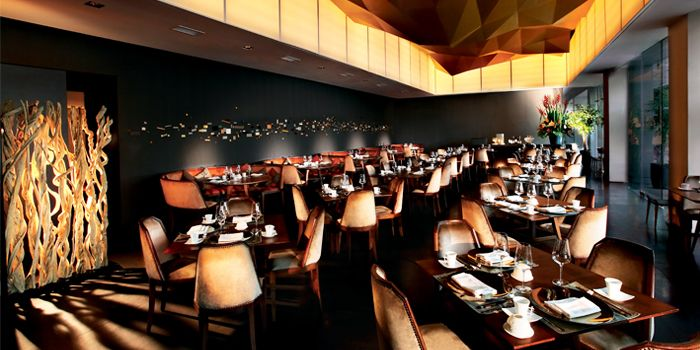 Interior of JING at One Fullerton, Singapore