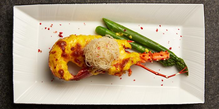 Baked Lobster with Cheese from Cassia serving Chinese cuisine at Capella Hotel on Sentosa Island, Singapore