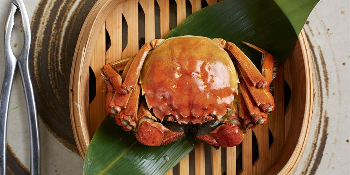 Hairy Crabs from Cassia serving Chinese cuisine at Capella Hotel on Sentosa Island, Singapore