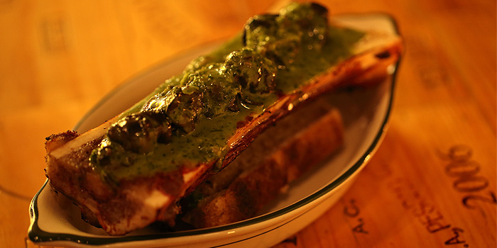 Bone Marrow with Sauteed Mushrrom, Bistro du Vin, Kennedy Town, Hong Kong
