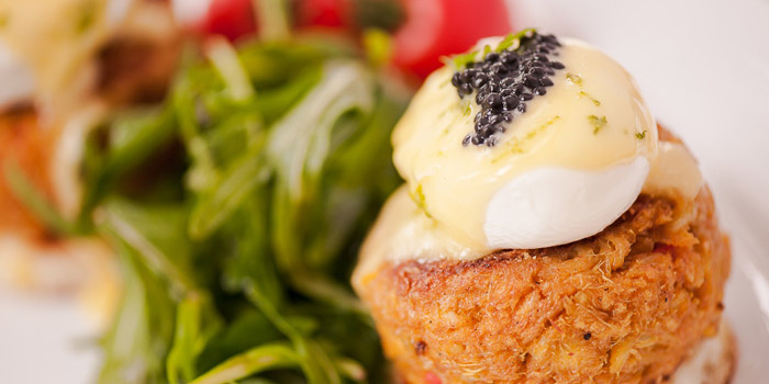 Crab Cakes from Wild Honey in Mandarin Gallery in Orchard, Singapore