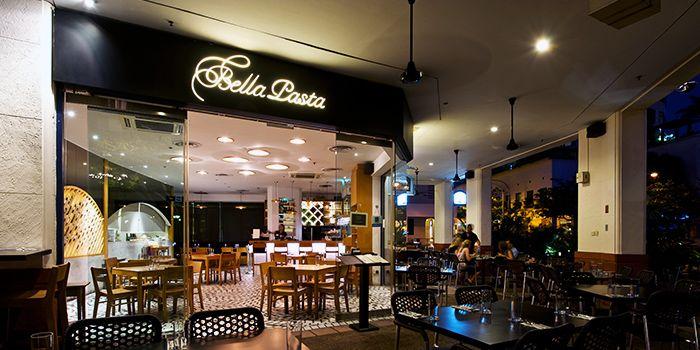 Exterior of Bella Pasta in Robertson Quay, Singapore