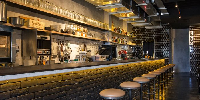 Interior of pluck on Club Street in Tanjong Pagar, Singapore