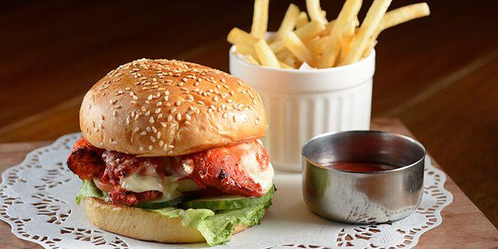 Chicken Tikka Burger from Zaffron Kitchen (East Coast) in East Coast, Singapore