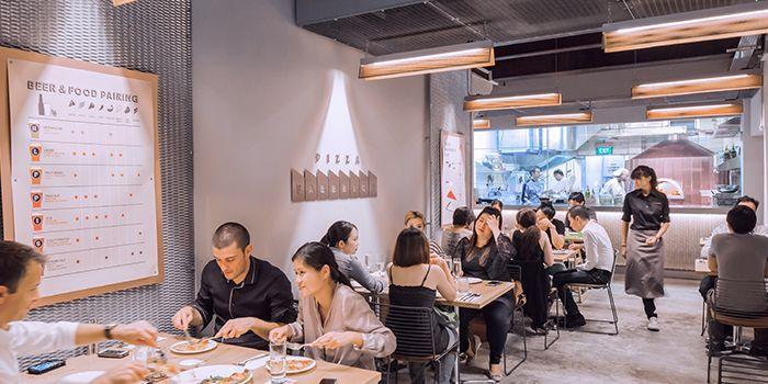 Interior of Pizza Fabbrica in Bugis, Singapore