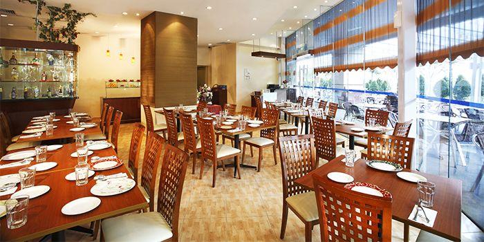 Interior of Raj Restaurant in Buona Vista, Singapore