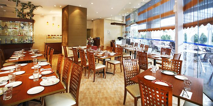 Interior of Raj Restaurant in Buona Vista, Singapore