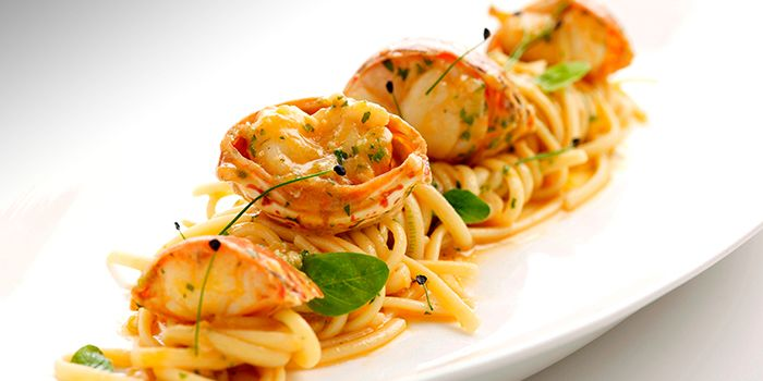 Linguine with Seared Rock Lobster from The Lighthouse in Fullerton, Singapore