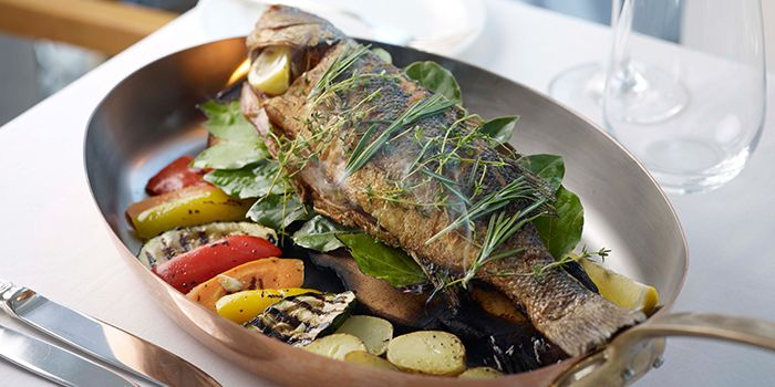 Roasted Whole Seabass from The Lighthouse in Fullerton, Singapore
