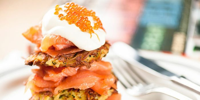 Smoked Salmon Latke from Sacha & Sons in Orchard, Singapore