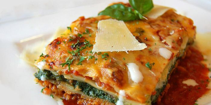 Lasagna with Soya Mince & Vegetables from Cafe Salivation in Little India, Singapore