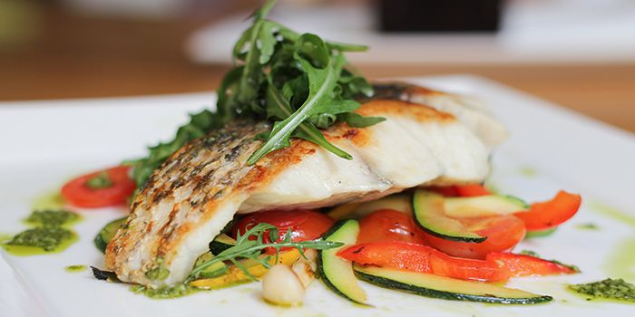 Grilled Barramundi from Food For Thought in the National Museum of Singapore in Dhoby Ghaut, Singapore