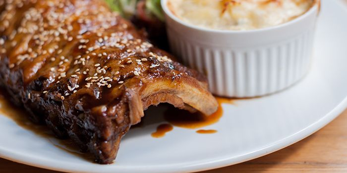 Honeyed Hoisin Braised Baby Back Ribs from Food For Thought in Singapore Botanic Gardens in Tanglin, Singapore