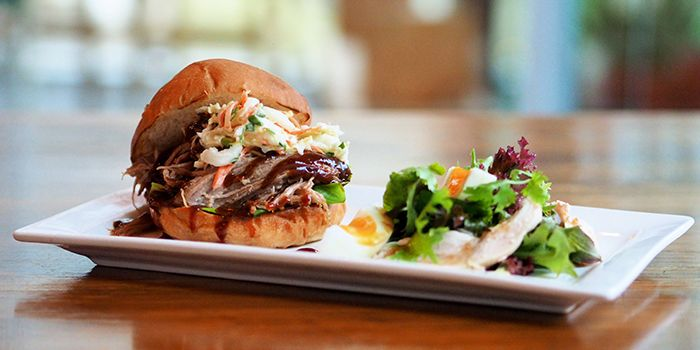 Slow Roasted Pulled Pork Burger from Food For Thought in Singapore Botanic Gardens in Tanglin, Singapore