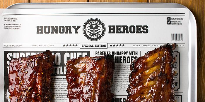 Pork Ribs from Hungry Heroes in Farrer Park, Singapore