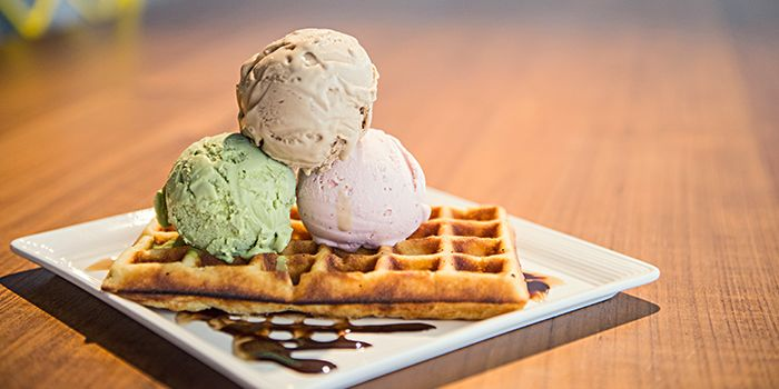 Waffles with Ice Cream from On The Table in Pasir Panjang, Singapore