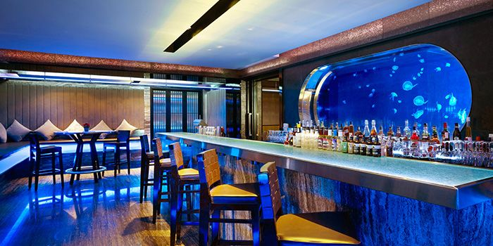 Cocktail Area of Mitzo Restaurant & Bar in Grand Park Orchard along Orchard Road, Singapore