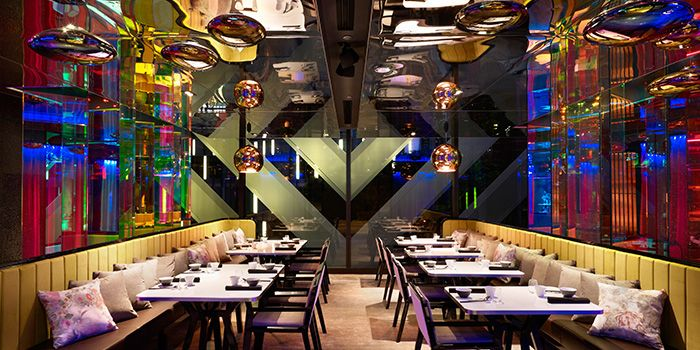 Dining Area of Mitzo Restaurant & Bar in Grand Park Orchard along Orchard Road, Singapore