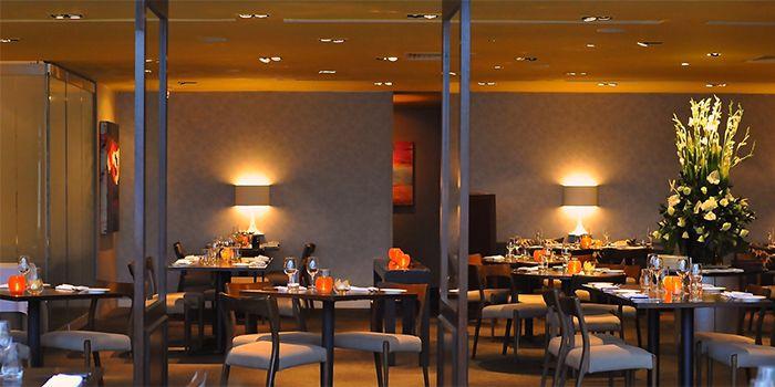 Interior of Prive Grill at Marina at Keppel Bay, Singapore