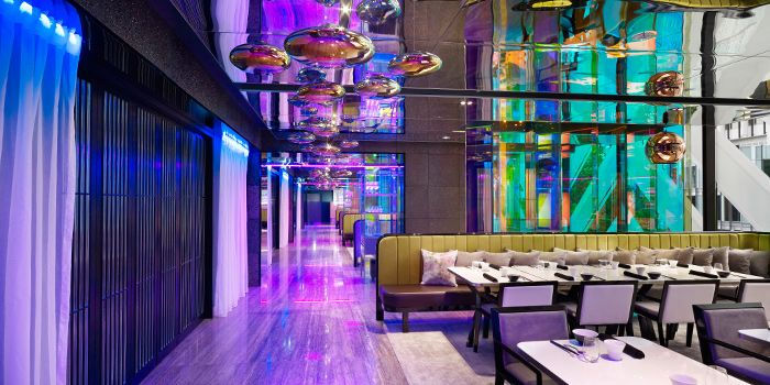 Interior of Mitzo Restaurant & Bar in Grand Park Orchard along Orchard Road, Singapore