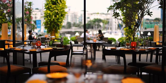View from Privé Grill at Keppel Bay Singapore