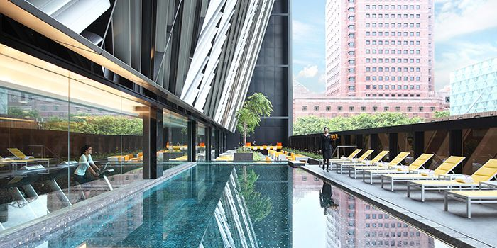 Swimming Pool of Bar Canary in Grand Park Hotel in Orchard, Singapore