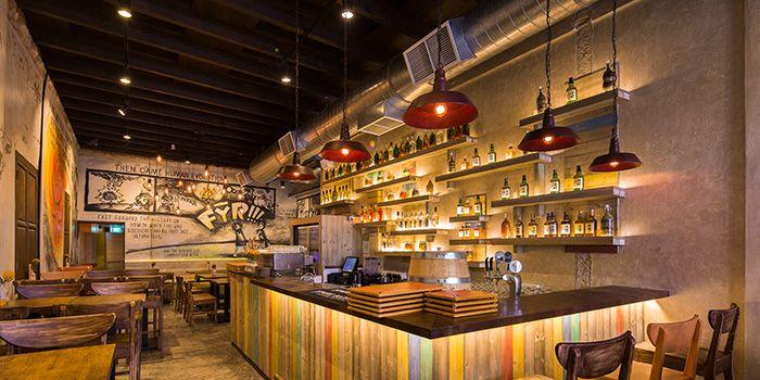 Bar Area of FYR Cycene Ond Drinc in Raffles Place, Singapore