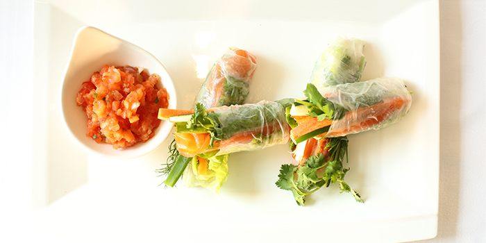 Smoked Salmon Spring Roll from Lobby Lounge & Bar at Holiday Inn Singapore Orchard City Centre in Orchard, Singapore