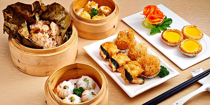 Dim Sum Spread from 9Goubuli at Marina Bay Sands in Marina Bay, Singapore
