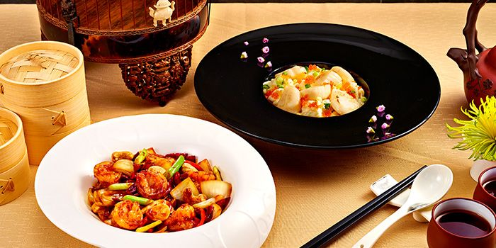 Kungbao Prawn Balls and Stir Fried Scallops from 9Goubuli at Marina Bay Sands in Marina Bay, Singapore